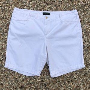 LRL Ralph Lauren White Bermuda Shorts Plus Sz 18W